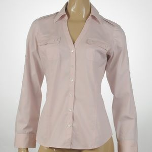 Express - Long Sleeve Button Up Top - Size M